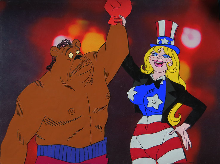 Coonskin Original Animation Cel - Bear &Miss America #B