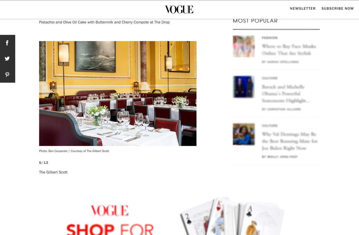 The Gilbert Scott in Vogue