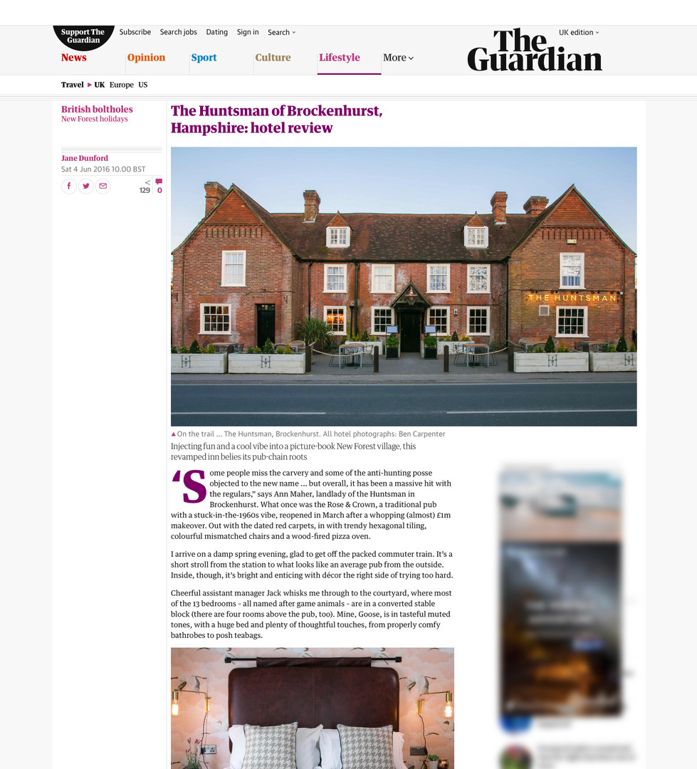 The Huntsman of Brockenhurst in The Guardian