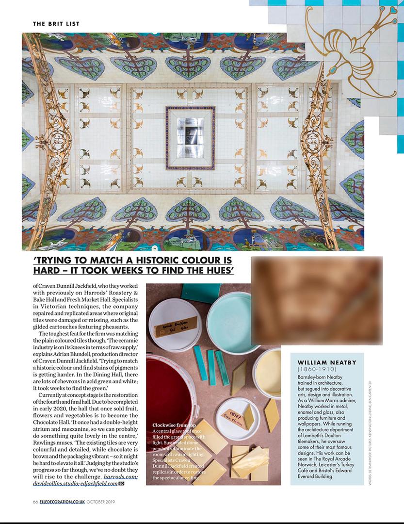 Harrods Dining Hall x David Collins Studio in Elle Decoration