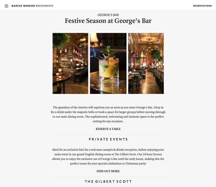 Georges Bar at The Gilbert Scott