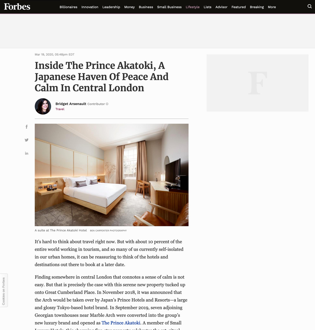The Prince Akatoki in Forbes