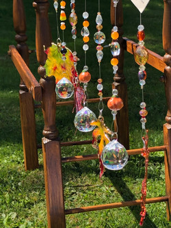 Fall theme suncatchers