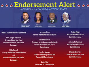 Endorsements of the Ward 8 Action slate
