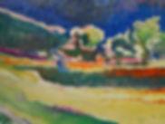 Paysage d'Irlande, peinture à l'huile