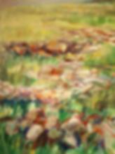 Paysade d'Irlande, peinture à l'huile