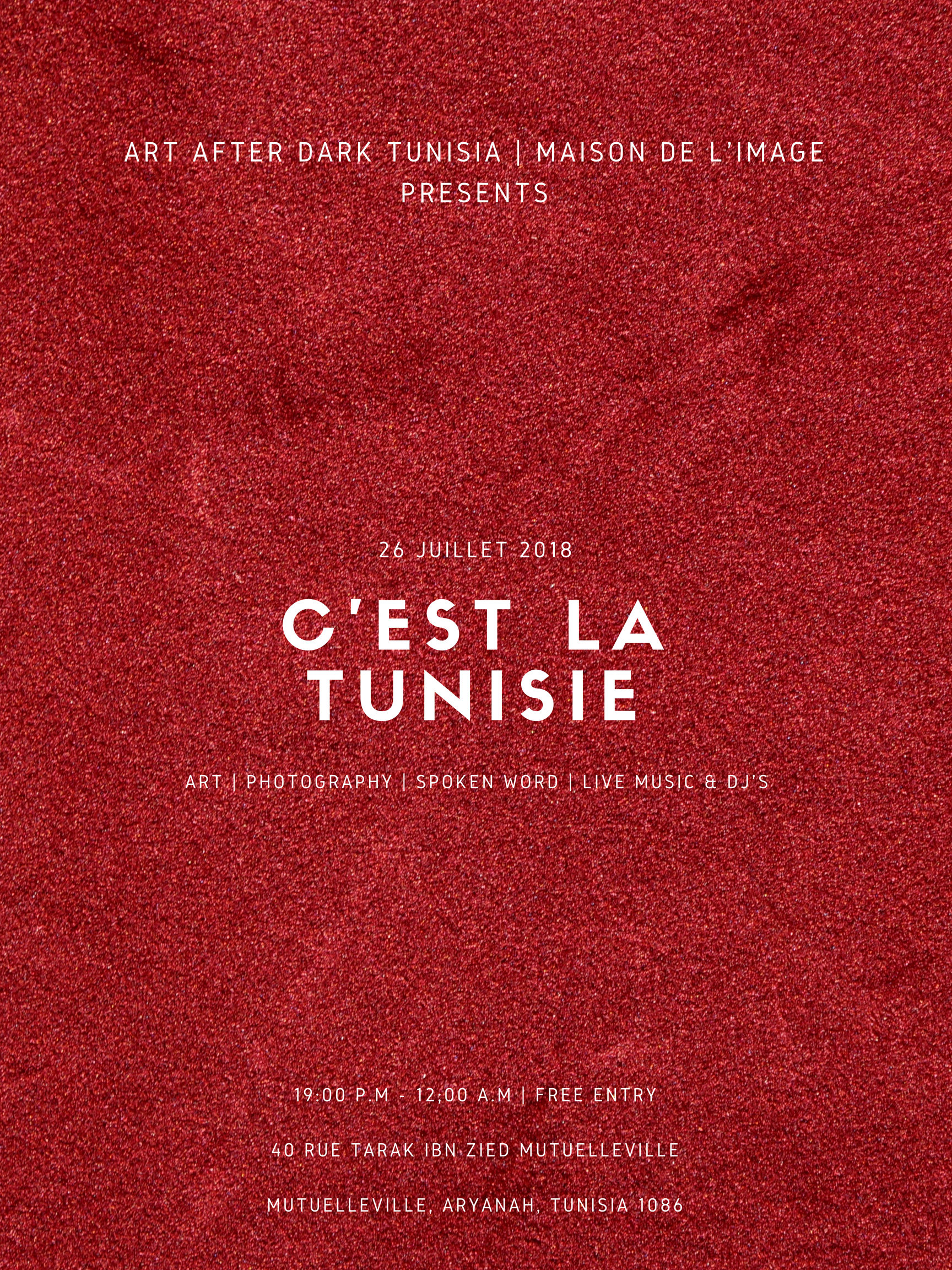 _THIS IS TUNISIA._  ( Event Poster)
