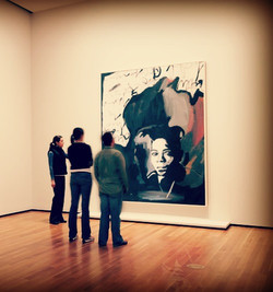 Jean-Michel Basquiat in Museum.