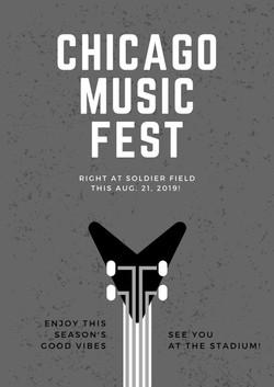 Chicago Music Fest Flyer.