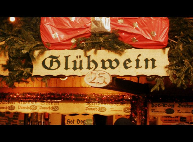 Gluhwien sign at Christmas Market