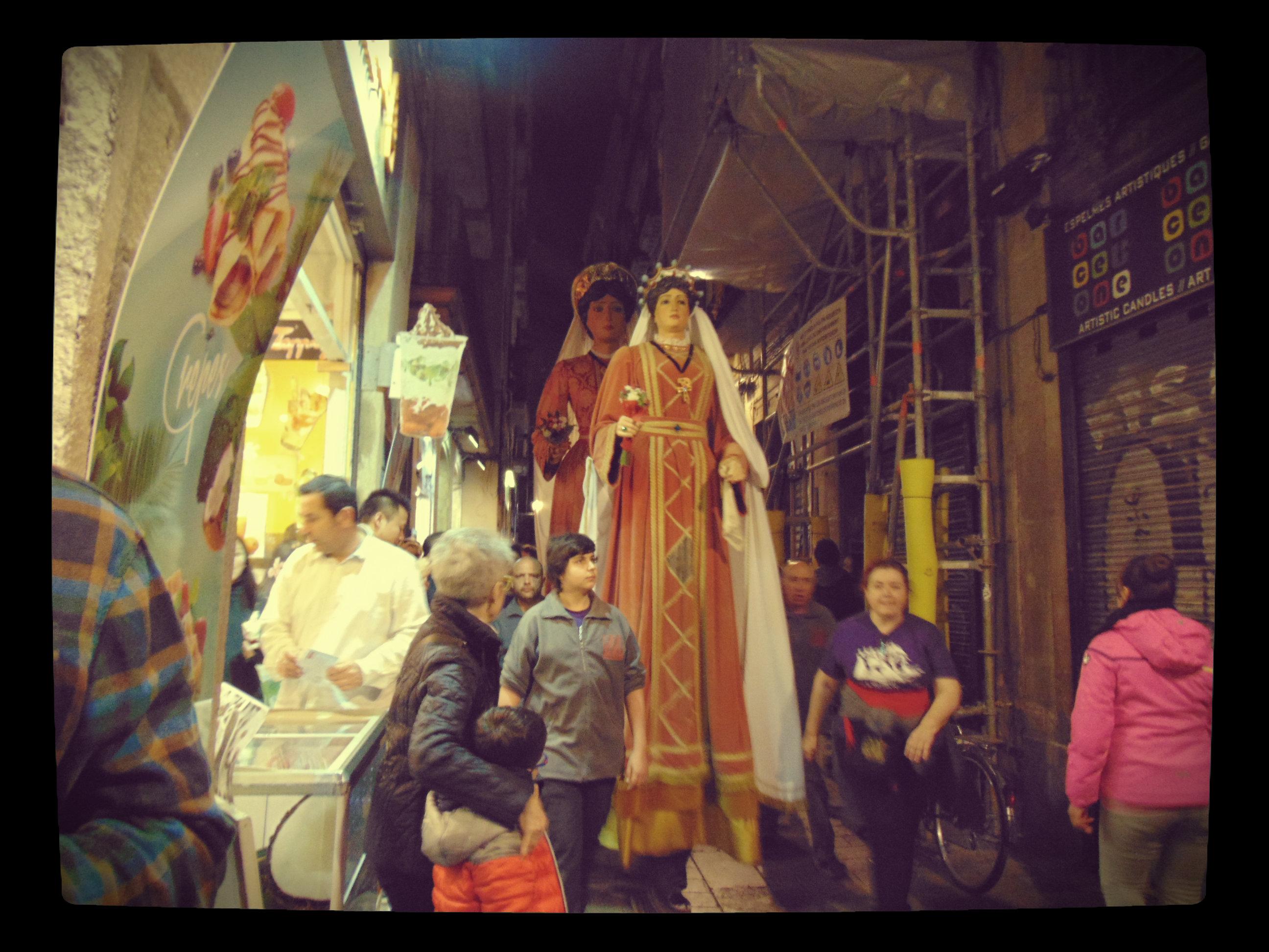Festive in Barcelona.