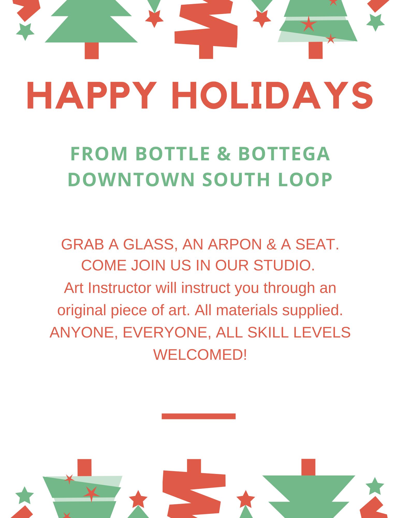 Happy Holidays! Bottle & Bottega