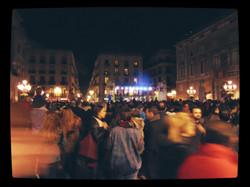 Festive Crowds.