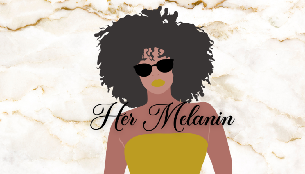 Her Melanin Business Card -  Gold and Wh
