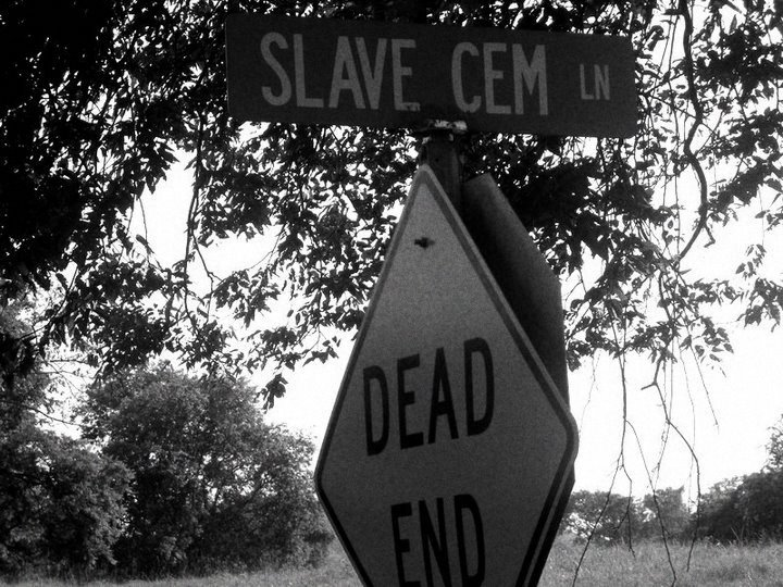 Slave Cemetery Road.