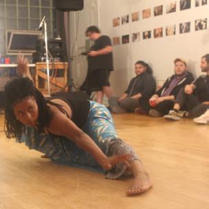 Keisha Bennett performs.