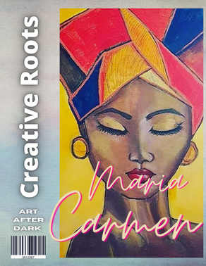 BADASS MOM of 3, Maria Carmen is a self taught artist giving vibrancy to the world!