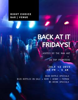 Right Choice Bar Flyer