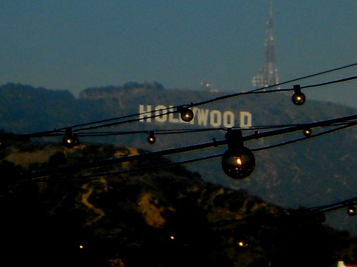 Hollywood sign and lights.