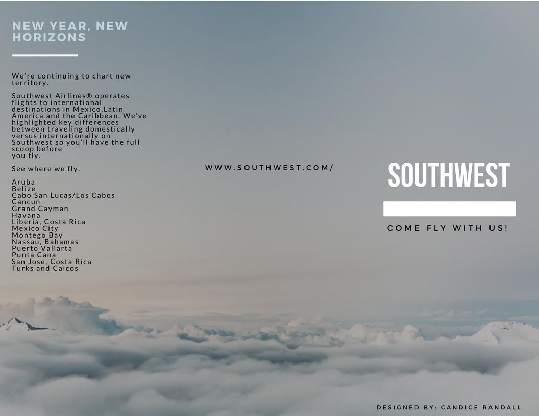 Southwest Promotion Tri-Fold