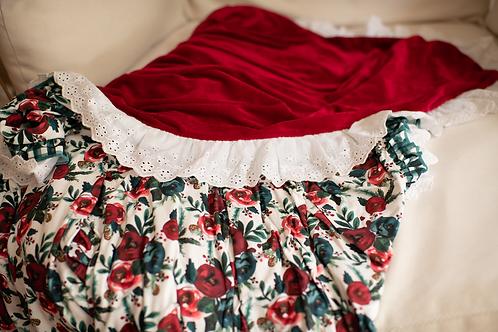 Christmas Cheer Floral Blanket