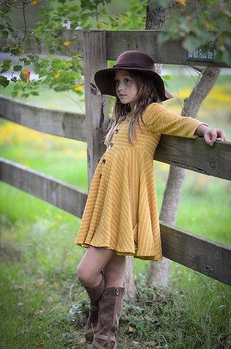 Golden Harvest Ribbed Knit Dress