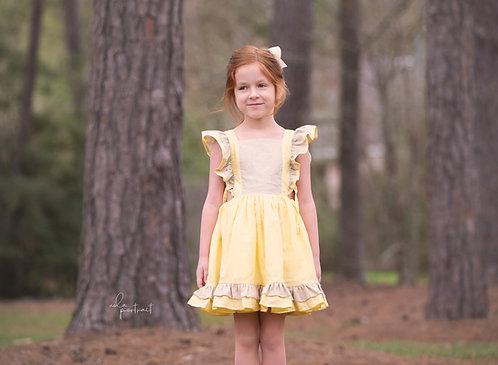 Summer Rae Pinafore Dress (NO EMBROIDERY)