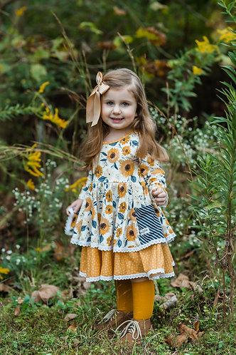 Sunflower Fields Pocket Dress