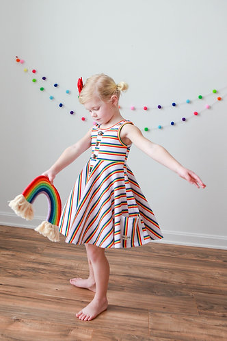Over the Rainbow pocket dress with shorts