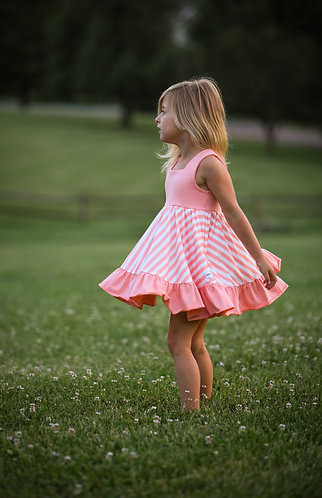 Peach Stripes Lexi Set