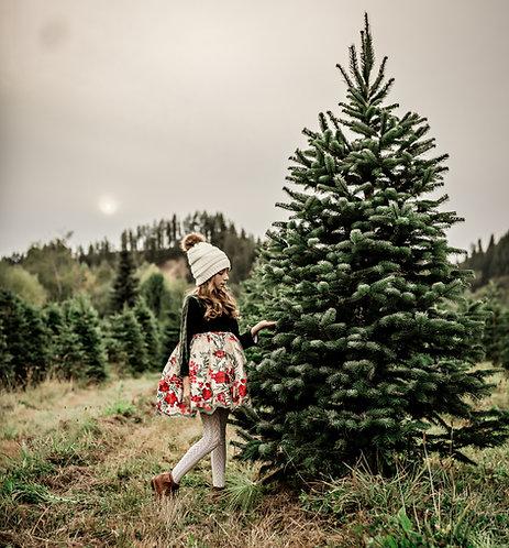 Noel Petite Skirt Christmas Dress with Bloomers