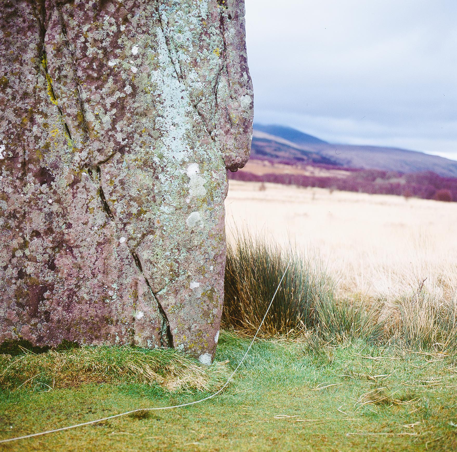 Infinite line and stone