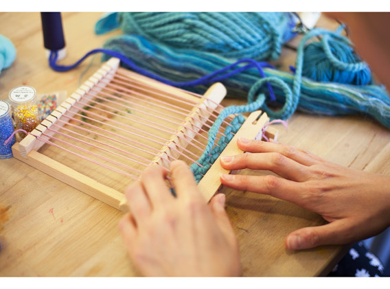 Working with loom.
