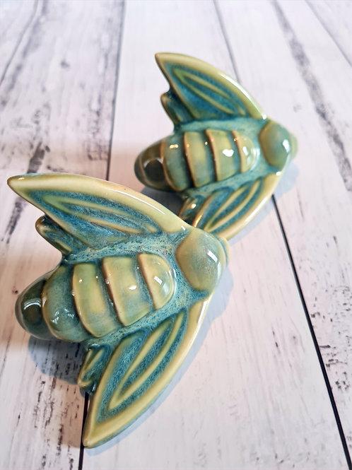 Twin Blue/Green Moths