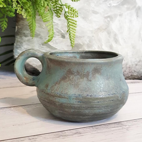 Small Round Belly Mug - Stone Look