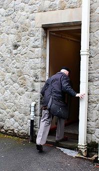Side door access to Trinity Halls