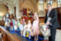 Children involved in worship