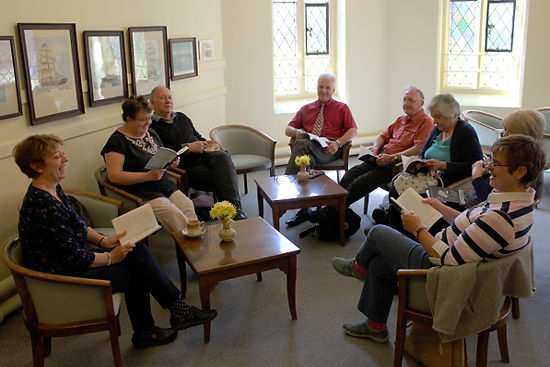 A discussion group at Trinity