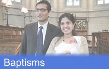 Click here for infomration on baptisms at Trinity