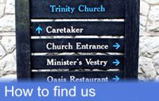 Click here for information on how to find Trinity Church