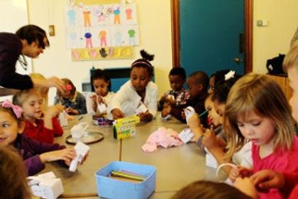 Primary class in Junior Church