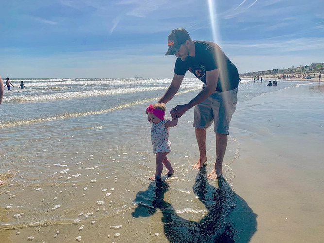 My baby loves the beach.