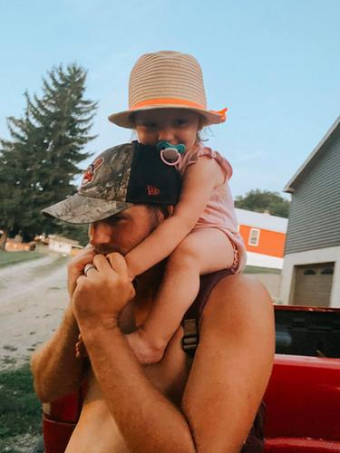 My baby loves her daddy!