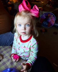 Reese loves big bows!