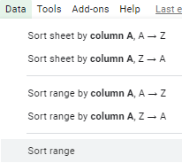 Google Sheets Tip - Sorting By Multiple Columns