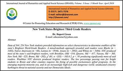 New York States Brightest Third Grade Re