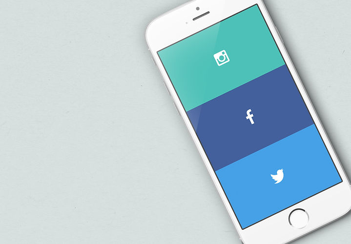 iphone with social links