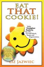 Cover art for Liz Jazwiec's book Eat That Cookie!
