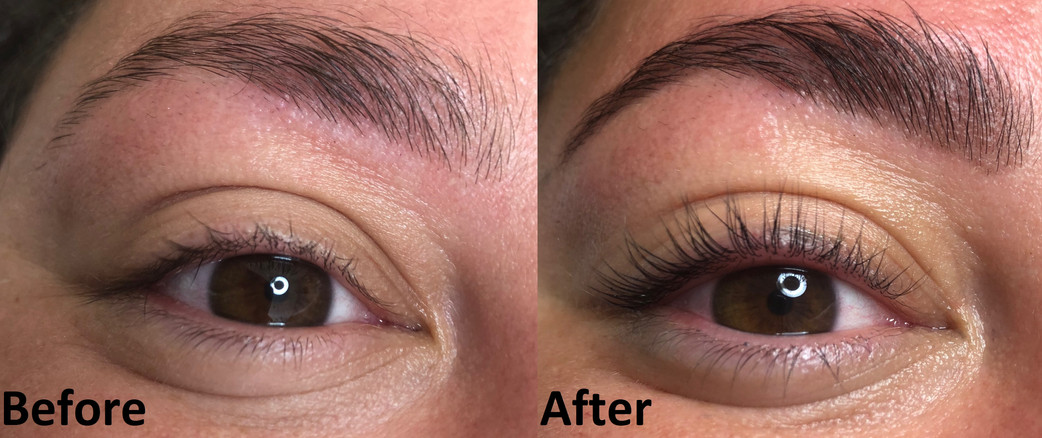 Lash Lift and eyebrow tint with Henna