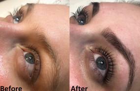 Lash Lift, eyebrow wax and tint with Henna